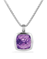 David Yurman Metallic Albion Pendant With Amethyst