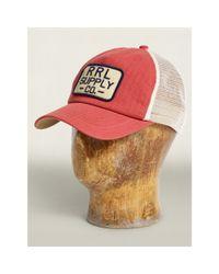 RRL | White Herringbone Shop Trucker Cap for Men | Lyst