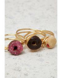 Forever 21 | Metallic Janes Tiny Things Donut Midi Ring Set | Lyst