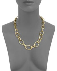 Vaubel | Metallic Hammered Link Necklace | Lyst
