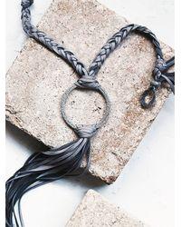 Free People - Gray Buju Womens Canyon Fringe Pendant - Lyst