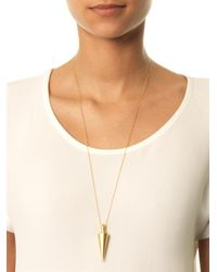 Eddie Borgo | Metallic Spiked Urn Goldplated Pendant Necklace | Lyst
