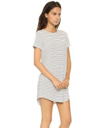 The Lady & The Sailor Round Bottom Dress White Stripe