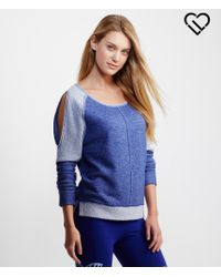 Live Love Dream | Blue Lld Long Sleeve Cold-shoulder Terry Top | Lyst