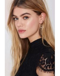 Nasty Gal - Metallic You Wish Pearl Earrings - Lyst