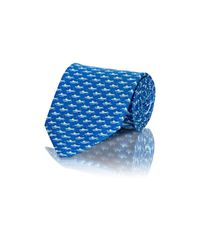 Ferragamo | Blue Men's Crocodile-print Twill Necktie for Men | Lyst