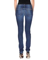 Joe's Jeans - Blue Denim Trousers - Lyst