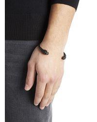 Alexander McQueen | Matte Black Brass Skull Bracelet for Men | Lyst