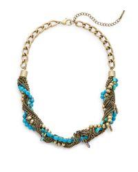 Saks Fifth Avenue | Metallic Beaded Torsade Necklace | Lyst