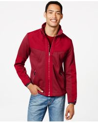 Tommy Hilfiger | Red Nicholson Full-zip Mock-collar Jacket for Men | Lyst