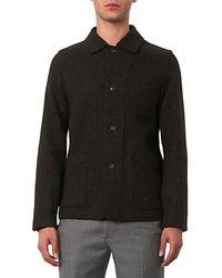 Richard James Green Harris-Tweed Shirt Jacket for men