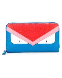 Fendi - Blue Bag Bugs Wallet - Lyst