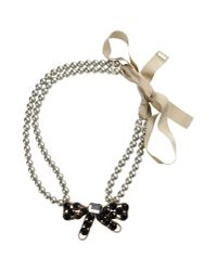 Moschino - Gray Necklace - Lyst