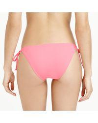 J.Crew - Pink String Bikini Top In Italian Matte - Lyst