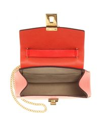 Chloé Red Drew Small Leather Shoulder Bag