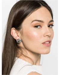BaubleBar | White Crystal Hearst Studs | Lyst