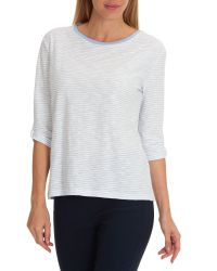 Betty Barclay - White Striped Oversized Top - Lyst