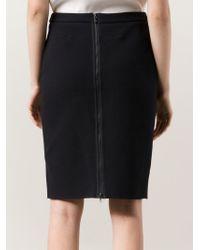 Lanvin - Blue Back Zip Pencil Skirt - Lyst