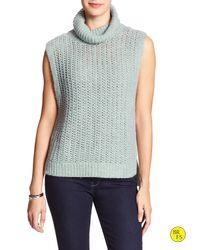 Banana Republic | Blue Factory Sleeveless Turtleneck Sweater | Lyst