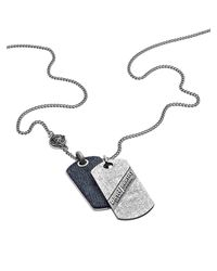 DIESEL | Metallic Necklace Dx0917 for Men | Lyst