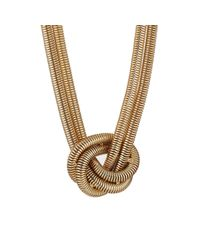 Kenneth Jay Lane Metallic Women's Knotted Snake-chain Necklace
