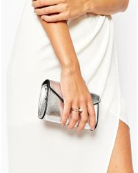 ASOS | Metallic Open End Faux Pearl And Crystal Ring | Lyst