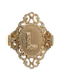 ASOS - Metallic Exclusive L Initial Ring - Lyst