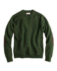 J.Crew Green Wallace  Barnes Shetland Wool Sutherland Sweater for men