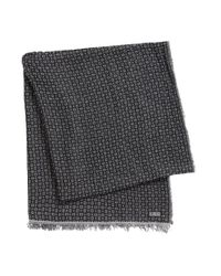 BOSS - Black Scarf In Viscose Blend: 'punito' for Men - Lyst