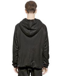 Julius Black Bemberg Cotton Blend Slub Sweatshirt for men