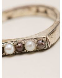 Henson - Metallic Stacker Ring - Lyst