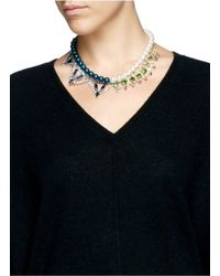 Joomi Lim | Multicolor Crystal Pearl Double Strand Necklace | Lyst