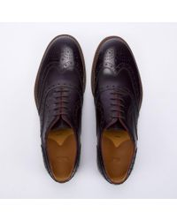 Paul Smith Dark Purple Leather 'Jacob' Brogues for men