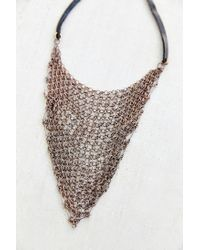 Urban Outfitters | Metallic Moto Bandana Chainmail Necklace | Lyst