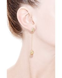 Yossi Harari | Metallic Small Round Lace Earrings with Double Ball and Champagne Diamonds | Lyst