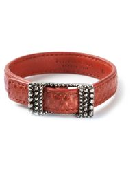 Bottega Veneta | Red Buckled Bracelet | Lyst