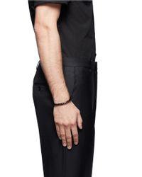 Eddie Borgo | Black Large Pyramid Cuff for Men | Lyst