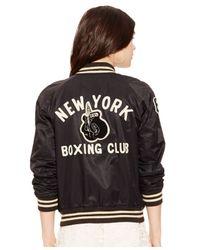 Polo Ralph Lauren Black Reversible Varsity Jacket for men