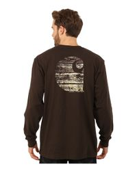 Carhartt | Brown Workwear Graphic Branded C Long Sleeve Tee for Men | Lyst