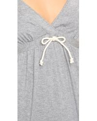 Splendid Gray Drawstring Chemise - Marled Grey Heather