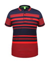 BOSS Green - Blue 'paddy' | Modern Fit, Cotton Polo Shirt for Men - Lyst