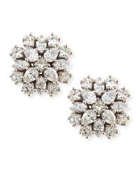 Paul Morelli 18K White Gold Diamond Cluster Stud Earrings