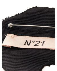 N°21 - Black Beaded Palm Tree Brooche - Lyst