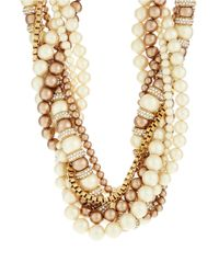 kate spade new york Natural Parlour Faux Pearl Twisted Statement Necklace