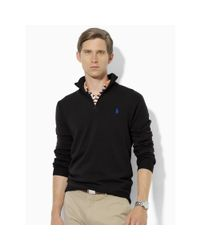 Pink Pony - Black Plaid Wool Half-zip Sweater for Men - Lyst