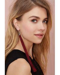 Nasty Gal | Purple Tassel On Earrings | Lyst