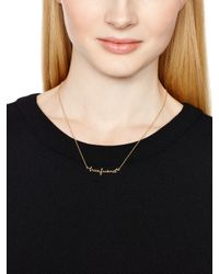 kate spade new york - Metallic Say Yes True Friend Necklace - Lyst