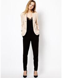 ASOS - Natural Longline Lapel Tailored Blazer - Lyst