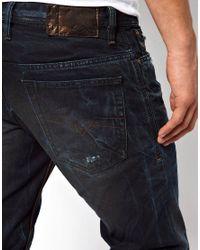 DIESEL | Blue Jeans Shioner 824Y Slim Fit Color Mutation Dark Wash for Men | Lyst