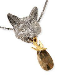 Alexis Bittar - Yellow Elements Fox Pendant Necklace for Men - Lyst